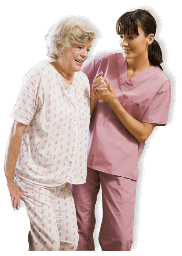 caregiver assisting elderly
